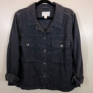 Caslon Jackets & Coats - CASLON Gray Utility Jacket
